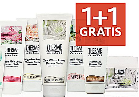 Aanbieding Therme 1+1 GRATIS Alle Therme producten