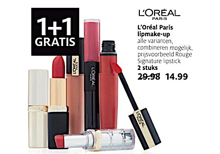 L'Oréal Paris lipmake-up 50 % Korting