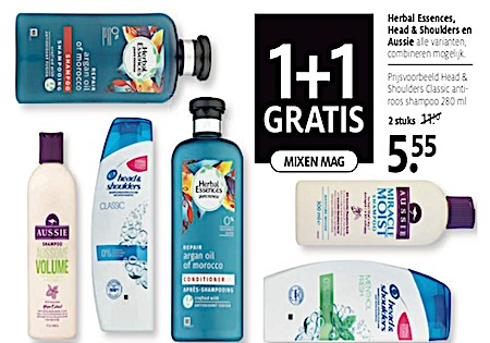 Herbal Essences, Head & Shoulders en Aussie 50 % Korting