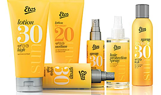 ETOS SUN PRODUCTEN  SPRAYS / LOTIONS