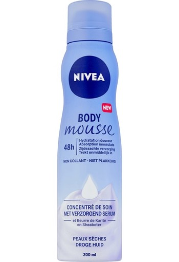 NIVEA Zijdezachte Body Mousse 200 ml