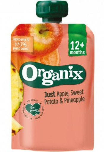 Organix Just Just apple sweet potato pineapple 12+ maanden bio (100 gram)