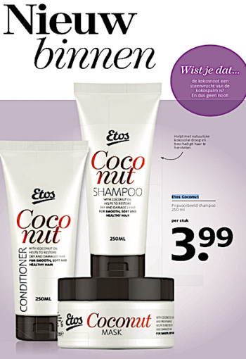 Etos coconut sham­poo 250 ml