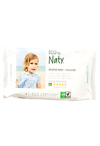 Eco Sensitive Wipes Unscented 56 stuks
