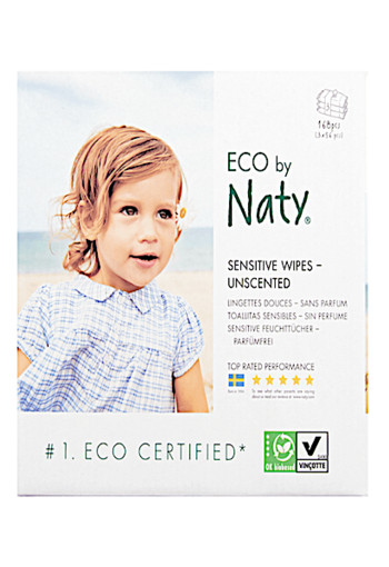 Eco Sensitive Wipes Unscented 168 stuks