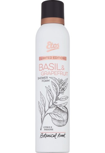 Etos Botanical Boost Basil & Grapefruit Shower Foam 200 ml