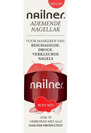Nailner Repair Ademende Nagellak Rosy Red 8 ml
