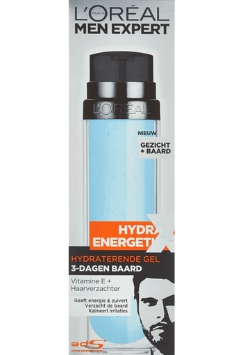 L'Oréal Paris Men Expert Hydra Energetic Hydraterende Gel 3-Dagen Baard 50 ml