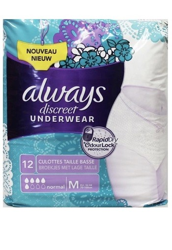 Always Discreet Maandverband Pants M 12st