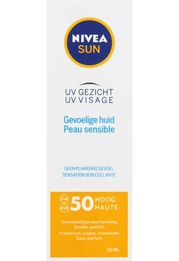NIVEA SUN Face Sensitive Gezichtszonnecrème SPF50 50 ml