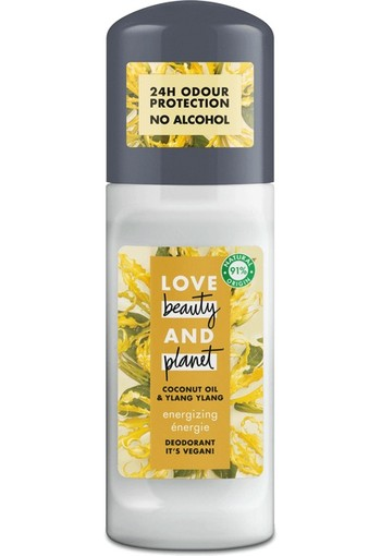 Love Beauty And Planet Vegan Deodorant Roller Coconut Oil And Ylang Ylang 50 ml