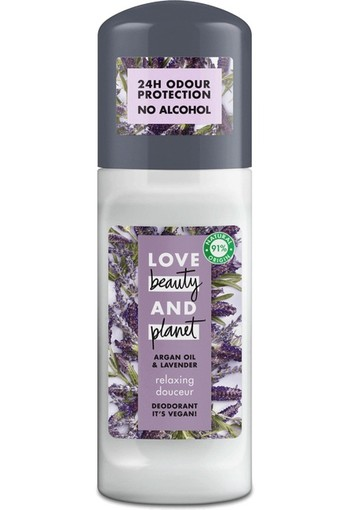 Love Beauty And Planet Vegan Deodorant Roller Argan Oil And Lavender 50 ml