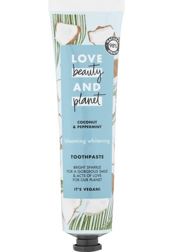 Love Beauty & Planet Coconut & Peppermint Blooming Whitening Tandpasta 75 ml