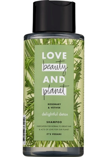 Love Beauty And Planet Delightful Detox Rosemary & Vetiver Shampoo 400ml