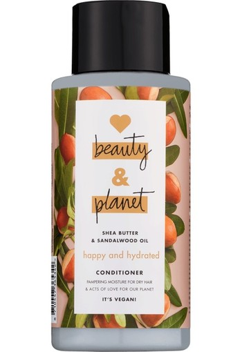 Love Beauty And Planet Happy & Hydrated Shea butter & Sandalwood Oil Conditioner 400 ml