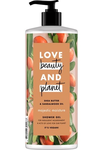 Love Beauty And Planet Majestic Moisture Shea butter & Sandalwood Oil Shower Gel 500 ml