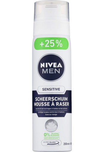 NIVEA MEN Sensitive Scheerschuim 250 ml