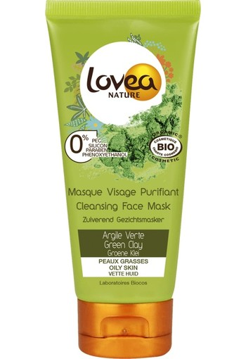Lovea Cleansing Face Mask Green Clay 75 ml