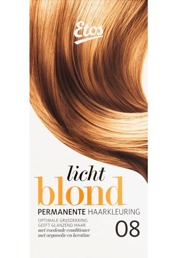 Etos Permanente Haarkleuring 08 Licht Blond 120 ml