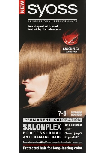 Syoss Salonplex Permanent Coloration 7-6 Middenblond 115 ml