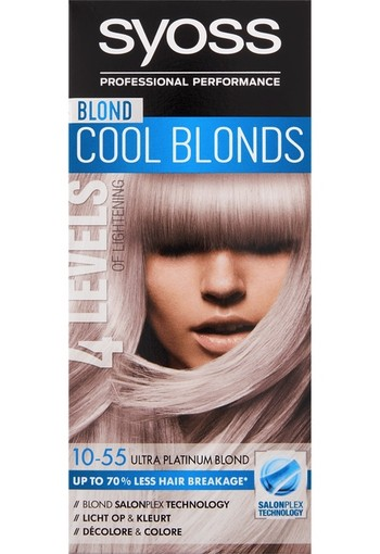 Syoss Blond Cool Blonds Haarverf 10-55 Ultra Platinum Blond 115 ml