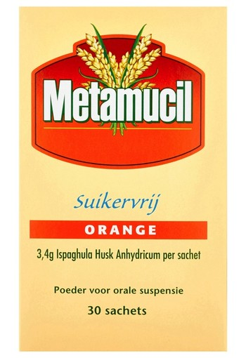 Metamucil Poeder Suikervrij Orange 30 Sachets