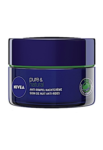 NIVEA PURE & NATURAL ANTI-RIMPEL NACHTCRÈME