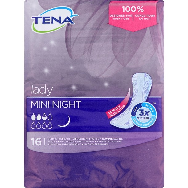 Tena Lady Mini Night Incontinentieverband 16 stuks
