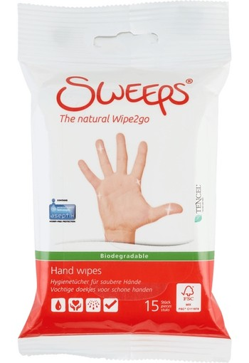 Sweeps Hand Wipes Mini 15 stuks