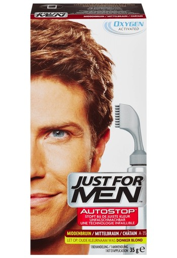 Just For Men Autostop Haarverf Middenbruin 35 gr.