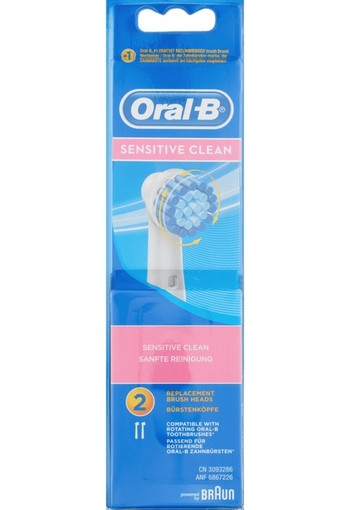 Oral-B Sensitive Clean Opzetborstels 2 st.
