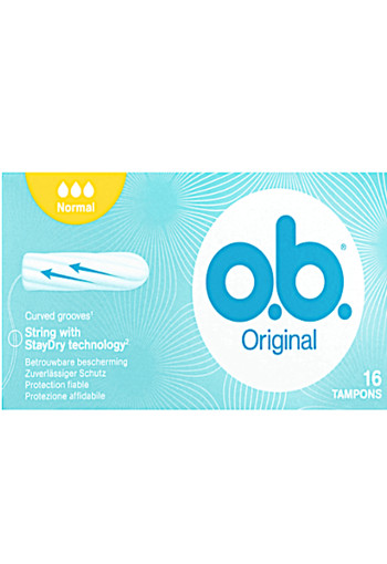 o.b. Original Curved Grooves Tampons Normal 16 stuks