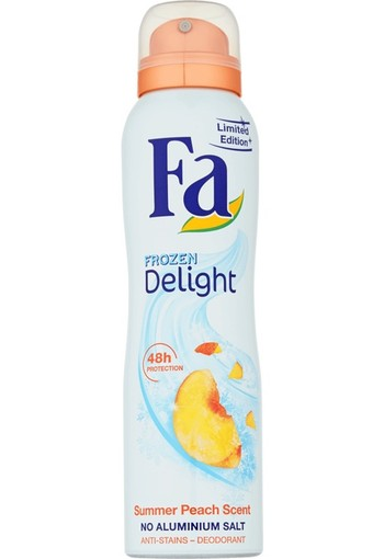 FA Frozen Delight Summer Peach Scent Deodorant Spray-150ml