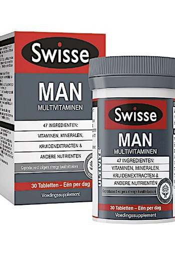 SWISSE ULTIVITE MAN MULTIVITAMINEN ( 30 stuks )