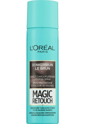 L'Oréal Paris Magic Retouch Uitgroei Camouflage Spray 2 Donkerbruin 150 ml
