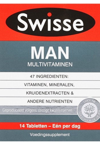 SWISSE ULTIVITE MAN MULTIVITAMINEN ( 14 stuks )