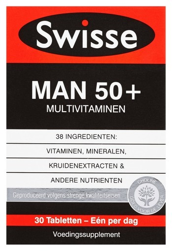 Swisse Man 50+ Multivitaminen Voedingssupplement 30 stuks