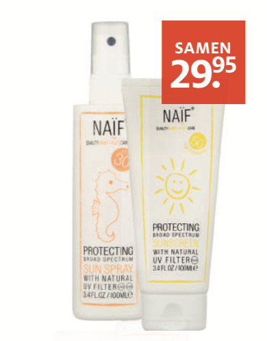 Naïf Aftersun en Sunscreen factor 50 of factor 30