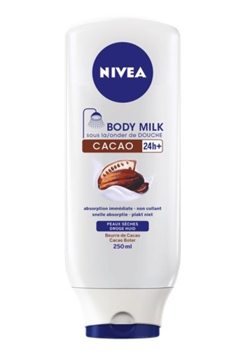 NIVEA CACOA ONDER DE DOUCHE BODY MILK 250 ML