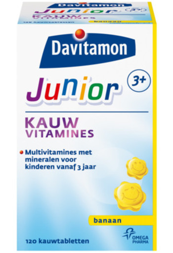 Davitamon Junior 3+ Kauwvitamines Banaan 120kt