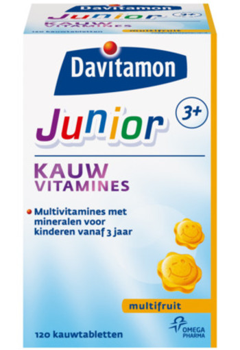 Davitamon Junior 3+ Kauwvitamines Multifruit 120kt