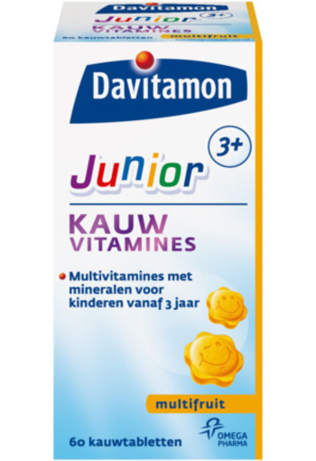 Davitamon Junior 3+ Kauwvitamines Multifruit 60kt