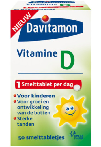 Davitamon Vitamine D Smelttablet Kind 50tab
