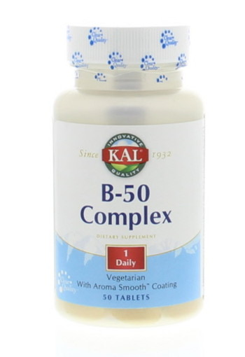 KAL Vitamine B complex 50 mg (50 tabletten)