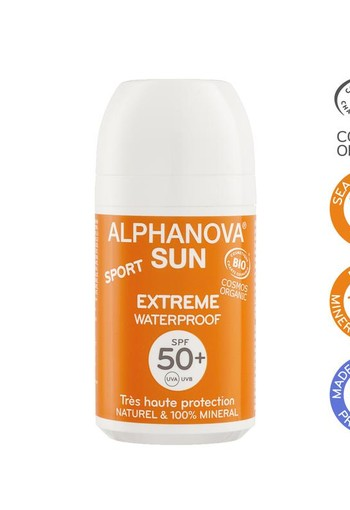 Alphanova Sun Sun vegan roll on sport SPF50 bio (50 gram)