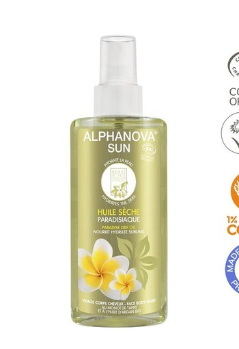 Alphanova Sun Sun vegan dry oil spray paradise bio (125 ml)