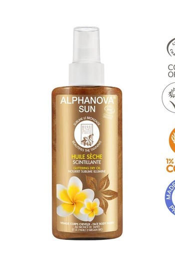 Alphanova Sun Sun vegan dry oil spray glitter bio (125 ml)