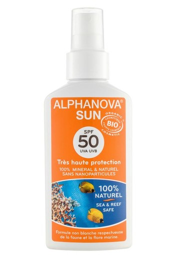 Alphanova Sun Sun vegan spray SPF50 bio (125 ml)