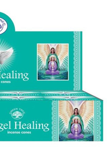 Green Tree Kegelwierook angel healing (10 stuks)