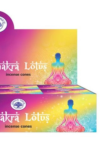 Green Tree Kegelwierook chakra lotus (10 stuks)